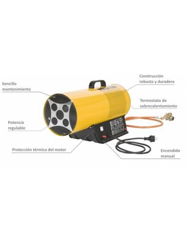 Calentador de Aire a Gas GLP BLP-17M,...